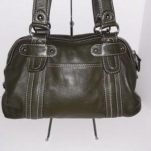 Tignanello leather double-strap shoulder purse
